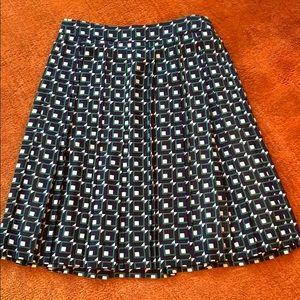 J. Crew knee length pleated skirt